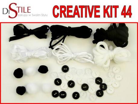 Czerń i Biel - Zestaw Kreatywny 44 elementy
