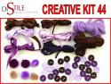 Czekolada z Jagodami - Zestaw Kreatywny 44 elementy