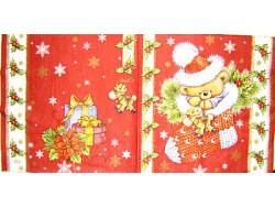 Serwetki Decoupage - Świąteczna skarpeta i prezenty