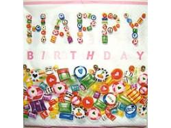 Serwetki Decoupage - Urodzinowe Cukierki