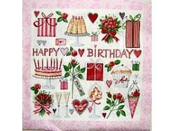 Serwetki Decoupage - Różowe Urodziny