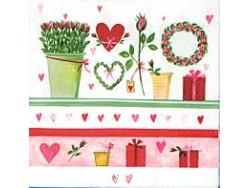 Serwetki Decoupage - Róże i Prezenty