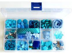 Zestaw kreatywny w pudełku - TURKUSOWY