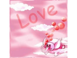 Serwetki Decoupage - Zakochany Różowy Słoń