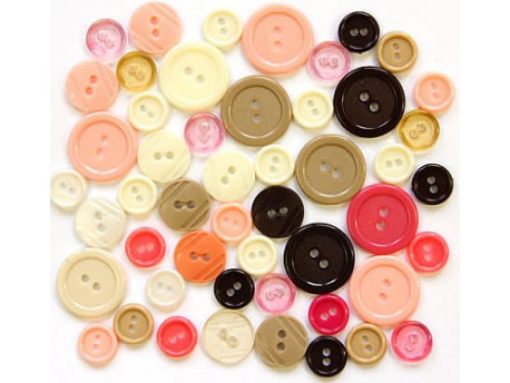 Guziki plastikowe - RETRO