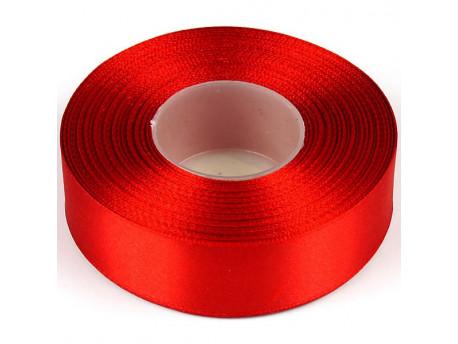 Wstążka satynowa 25mm - czerwona