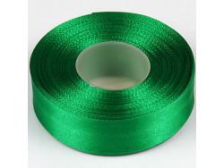 Wstążka satynowa 25mm - zielona