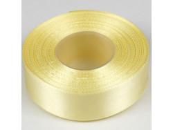 Wstążka satynowa 25mm - żółta jasna