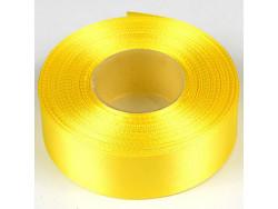 Wstążka satynowa 25mm - żółta cytrynowa