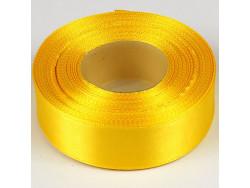 Wstążka satynowa 25mm - żółta