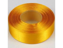 Wstążka satynowa 25mm - żółta ciemna