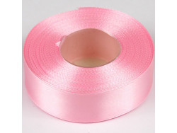 Wstążka satynowa 25mm - różowa jasna
