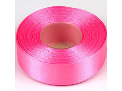 Wstążka satynowa 25mm - różowa intensywna