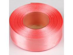 Wstążka satynowa 25mm - różowa jasna brudna