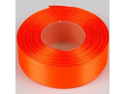 Wstążka satynowa 25mm - pomarańczowa ciemna