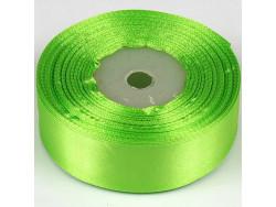 Wstążka satynowa 25mm - zielona jasna