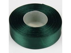 Wstążka satynowa 25mm - zielona ciemna zimna