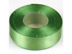 Wstążka satynowa 25mm - zielona zimna