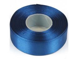 Wstążka satynowa 25mm - niebieska brudna