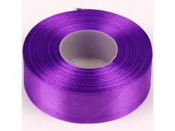 Wstążka satynowa 25mm - fioletowa zimna