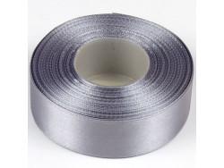 Wstążka satynowa 25mm - srebna