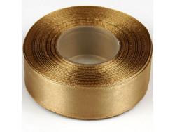 Wstążka satynowa 25mm - złota stara