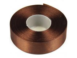 Wstążka satynowa 25mm - brązowa