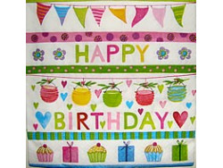 Serwetki Decoupage - Urodzinowe Przyjęcie