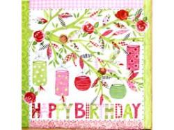 Serwetki Decoupage - Urodzinowe Party w Ogrodzie