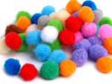 Pomponiki mix kolorów 11mm - 50szt