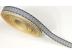 Tasiemka rypsowa jak koronka 15mm niebieska