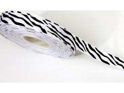 Tasiemka rypsowa zebra15mm
