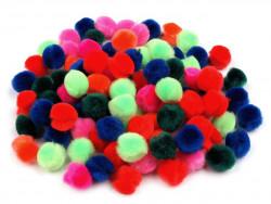 Pomponiki mix kolorów 15mm - 50szt