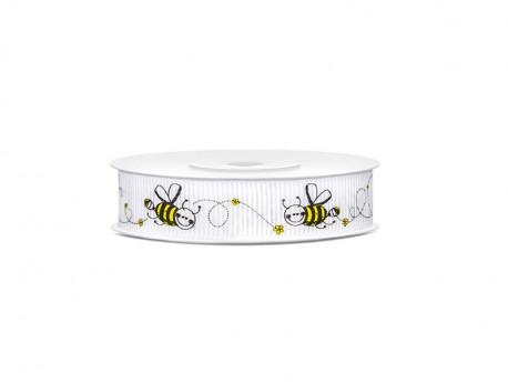 Wstążka ozdobna w pszczółki