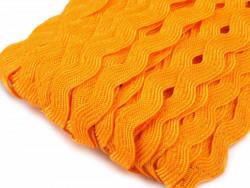 Tasiemka ząbki 9mm - pomarańczowa