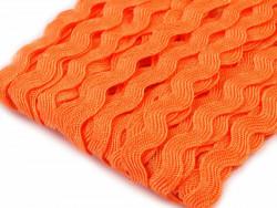 Tasiemka ząbki 9mm - oranż pomarańcza