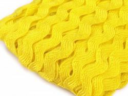 Tasiemka ząbki 9mm - żółta