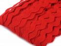 Tasiemka ząbki 9mm - czerwona