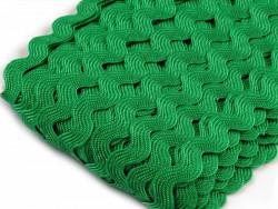 Tasiemka ząbki 9mm - ciemna zielona