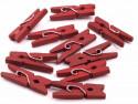 Drewniane klamerki mini, spinacze - 2szt, czerwone