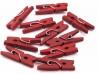 Drewniane klamerki, spinacze - 2szt, czerwone