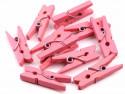 Drewniane klamerki mini, spinacze - 2szt, różowe
