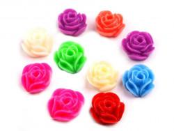 Różyczki akrylowe 10mm - MIX 5szt