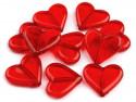 Koraliki akrylowe serca czerwone 21x23mm
