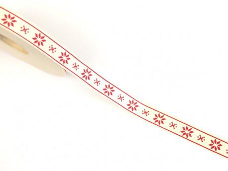 Tasiemka bawełniana 15mm gwiazdy