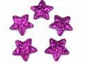 Aplikacje gwiazdki z brokatem fuksja