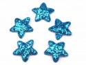 Aplikacje gwiazdki z brokatem niebieskie