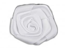 Róża satynowa 50mm biała