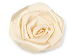 Róża satynowa 50mm kremowa