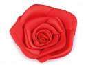 Róża satynowa 50mm czerwona